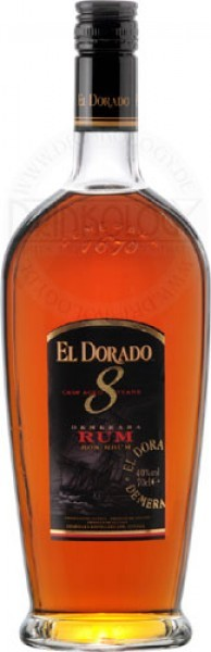 El Dorado Rum 8 Years Old 0,7L 40%