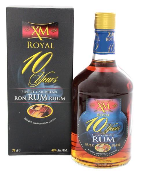 XM Royal Demerara Rum 10 Years Old, 0,7 L, 40%