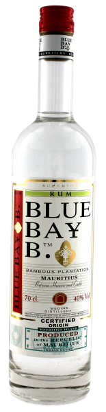 Blue Bay White Rum, 0,7 L, 40%
