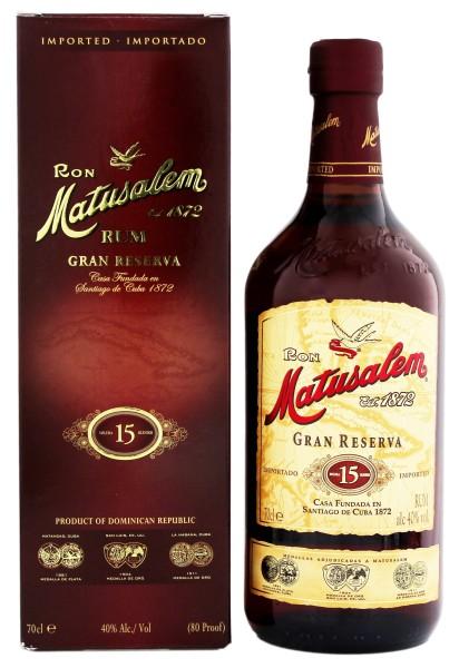 Matusalem Rum Gran Reserva 15 Years Old, 0,7 L