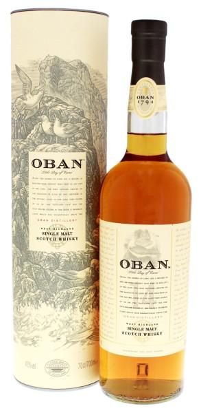 Oban Single Malt Whisky 14 Jahre, 0,7 L, 43%