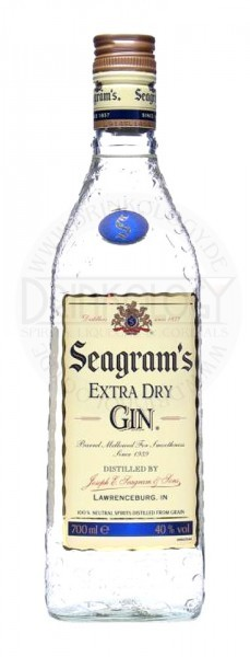 Seagrams Extra Dry Gin, 0,7 L, 40%