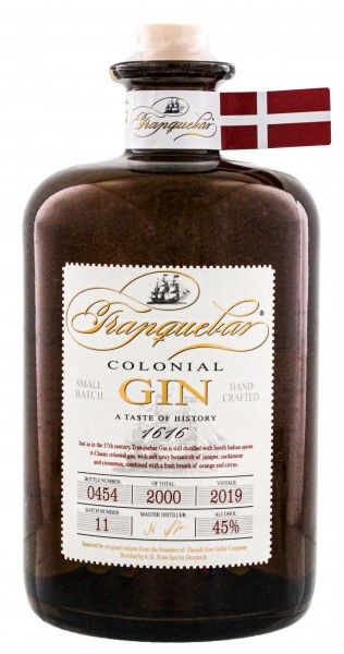 Tranquebar Colonial Small Batch Gin 0,7 - 45%-