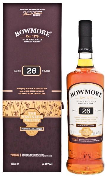 Bowmore Single Malt Whisky 26 Jahre The Vintners Trilogy French Oak Barrique 0,7L 48,7%
