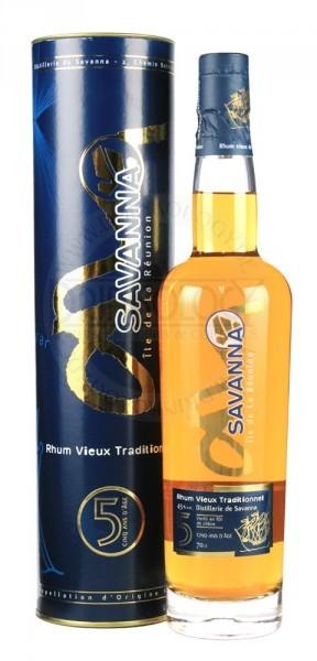 Savanna Rhum Vieux Traditionnel 5 Years Old 0,7L 43%