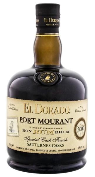 El Dorado Rum Port Mourant Sauternes Special Cask Finish 2000 Limited Edition 2018 0,7L 58,6%