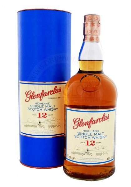 Glenfarclas Single Malt Whisky 12 Jahre, 1 L, 43%
