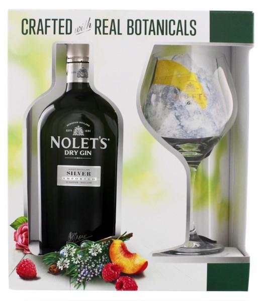 Nolet Dry Gin Silver Set inkl Glas 0,7L 47,6%