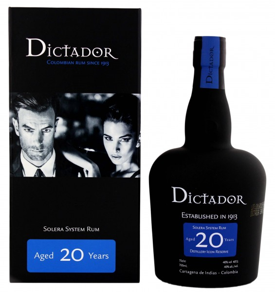 Dictador Rum Solera Distillery Icon Reserve 20 Years Old, 0,7 L, 40%