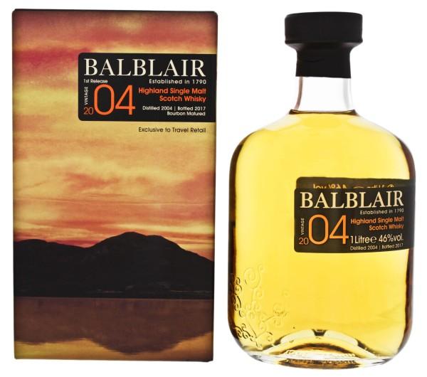Balblair Single Malt Whisky Vintage 2004/2017 Bourbon Cask 1,0L 46%