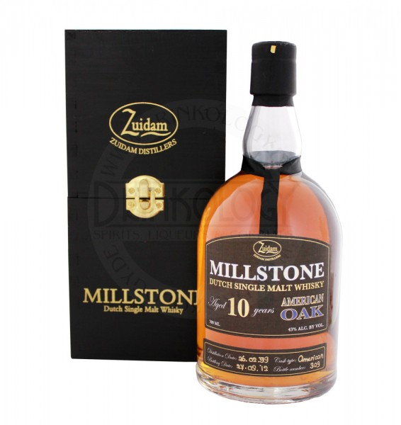 Zuidam Millstone Malt Whisky 10 Jahre American Oak 0,7L 43%