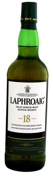 Laphroaig Single Malt Whisky 18 Jahre, 0,7 L, 48%