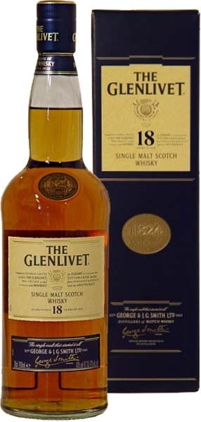 The Glenlivet Single Malt Whisky 18 Jahre 0,7L 43%