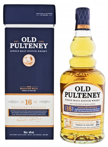 Old Pulteney Single Malt Whisky 16 Jahre 0,7L 46%