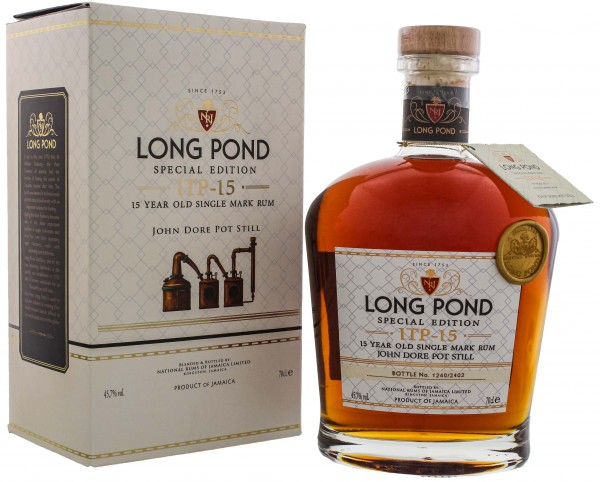 Long Pond Rum ITP 15 Jahre Single Mark Rum Special Edition 0,7L 45,7%