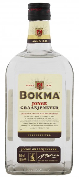 Bokma Jonge Jenever Vierkant, 1L, 35%