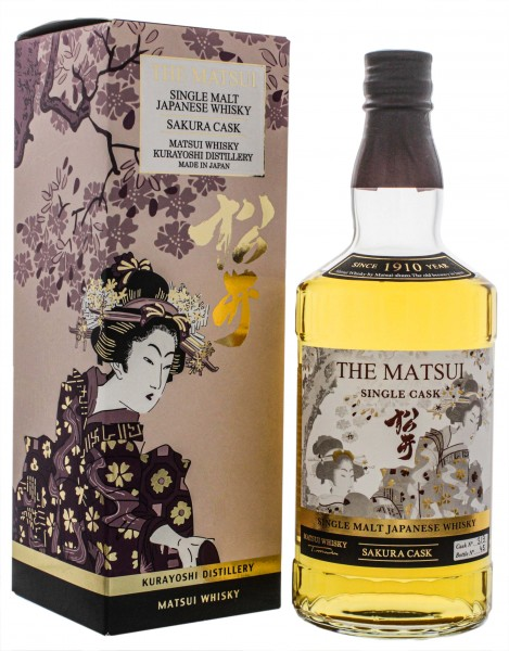 The Matsui Japanese Single Malt Whisky Sakura Cask 0,7L 48%