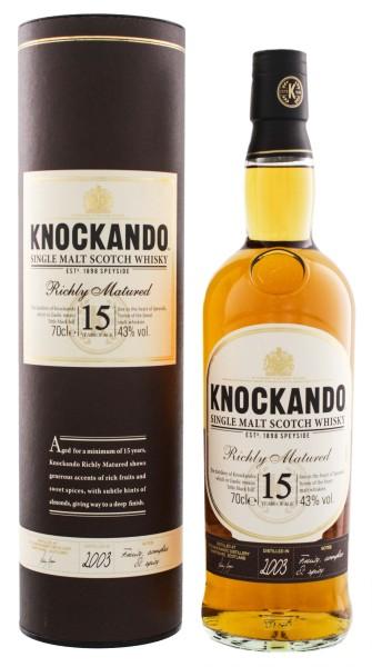Knockando Richly Matured Single Malt Whisky 15 Jahre 2003 0,7L 43%