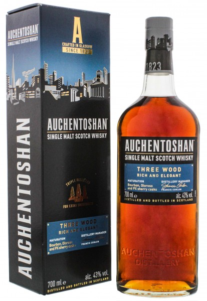 Auchentoshan Single Malt Whisky Three Wood 0,7L 43%
