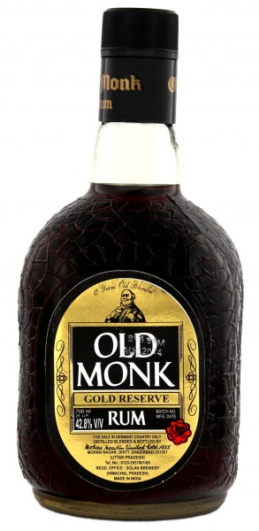 Old Monk Rum 12 Jahre Gold Reserve, 0,7 L, 42,8%