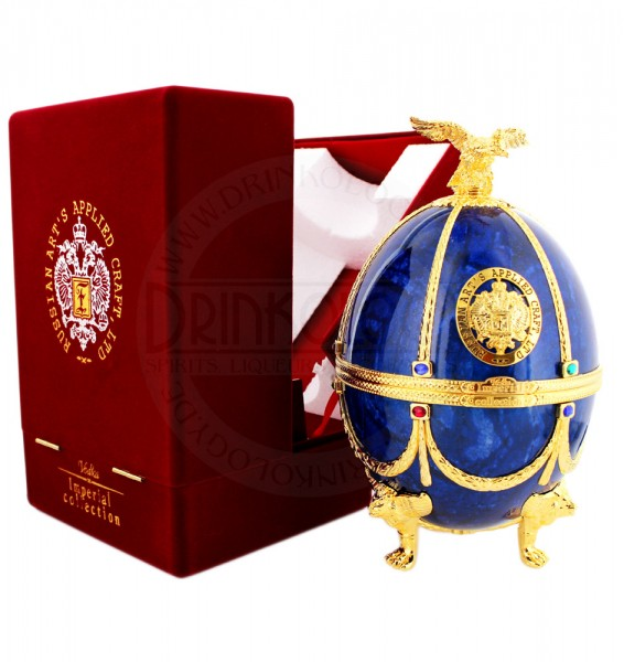 Imperial Collection Vodka Faberge Egg Blue