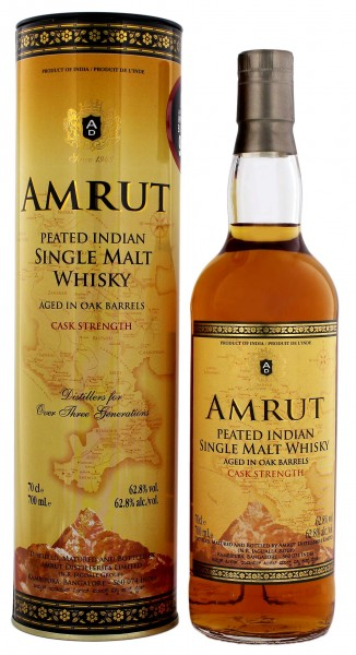 Amrut Peated Indian Malt Whisky Cask Strength 0,7L 62,8%