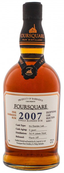 Foursquare Rum 2007 Cask Strength 0,7L 59%