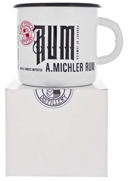 Michlers Jamaican Artisanal Rum Tin Cup weiß