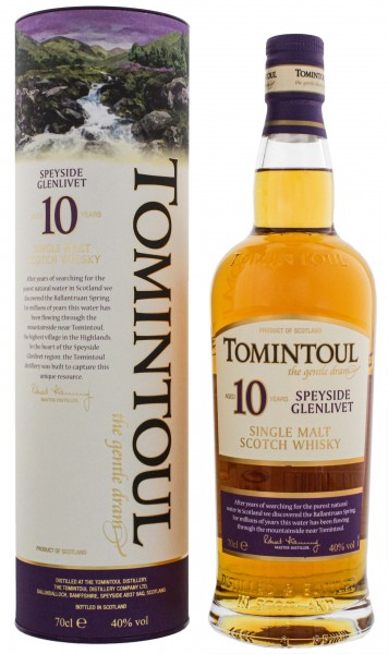 Tomintoul Single Malt Whisky 10 Years Old 0,7L 40%