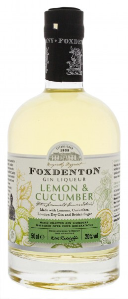 Foxdenton Lemon and Cucumber Liqueur 0,5L 20%