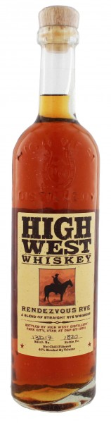 High West Distillery Rendezvous Rye Whiskey