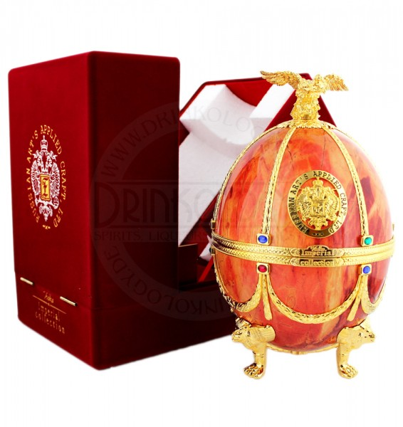 Imperial Collection Vodka Faberge Egg Orange