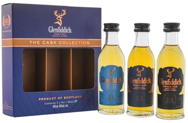 Glenfiddich Cask Collection Miniaturen, 3x0,05 L 40%