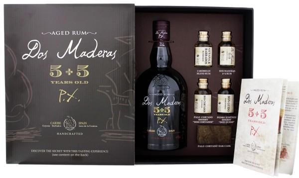 Dos Maderas Tasting Set Rum 5+5 Jahre inkl 4 Miniaturen