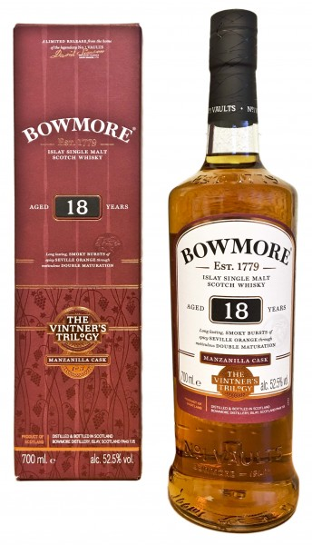 Bowmore Single Malt Whisky 18 Jahre Manzanilla Cask The Vintners Trilogy 0,7L 52,5%