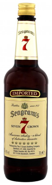 Seagrams Seven Crown Whisky, 0,7L 40%
