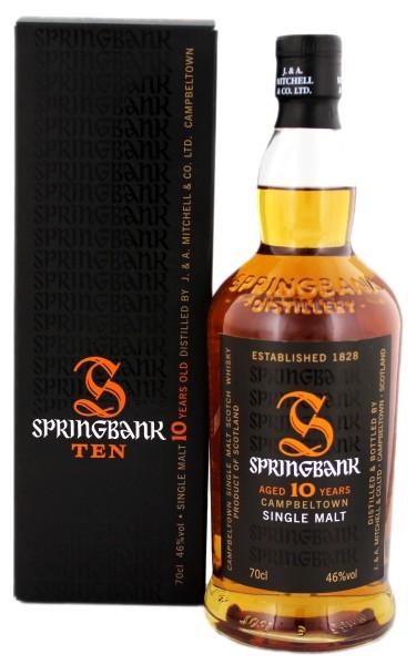 Springbank Single Malt Whisky 10 Jahre, 0,7 L, 46%