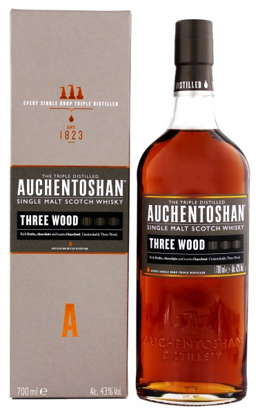 Auchentoshan Single Malt Whisky Three Wood 0,7L 43%