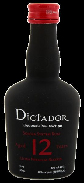 Dictador Solera 12YO Ultra Premium Reserve Miniatur 0,05 L 40%