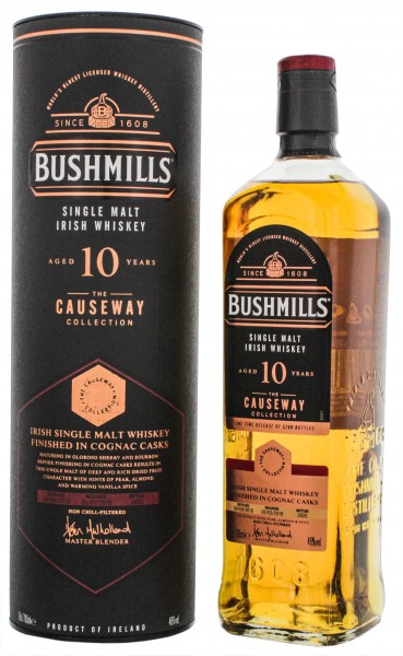 Bushmills Irish Single Malt Whiskey Causeway Collection 10 Jahre Cognac Cask Finish 0,7L 46%
