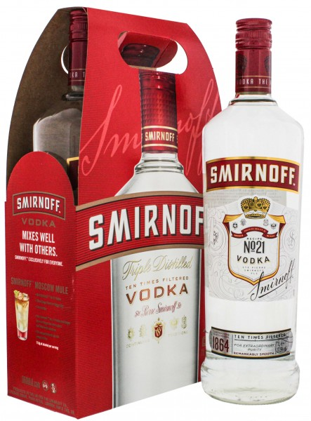 Smirnoff Vodka Red Label Twin Pack 2 x 1,0L 37,5%