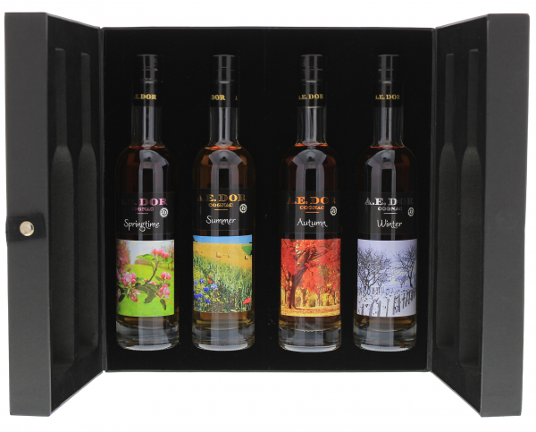A.E. Dor Cognac Coffret Seasons Collection, 4 x 0,2 L 40%