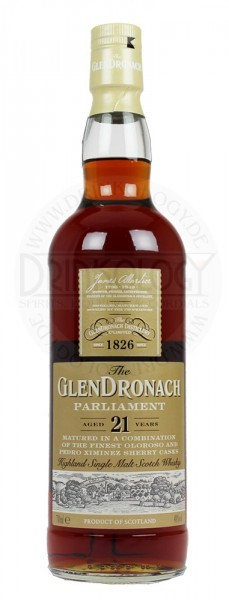 Glendronach Single Malt Whisky Parliament 21 Years Old 0,7L 48%