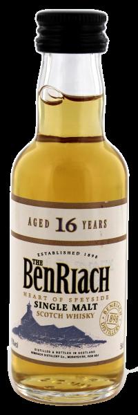 BenRiach Single Malt Whisky 16 Jahre Miniatur, 0,05L 43%