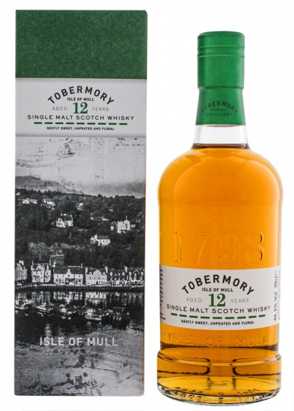 Tobermory 12YO Non Chill Filtered Single Malt Scotch Whisky 0,7L -46,3%-
