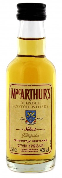 MacArthur's 3 Jahre Blended Whisky Miniatures 0,05L 40%