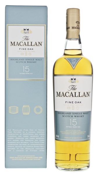 Macallan Single Malt Whisky Fine Oak 15 Jahre, 0,7 L, 43%