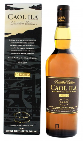 Caol Ila Single Malt Whisky Distillers Edition 2001, 0,7 L, 43%
