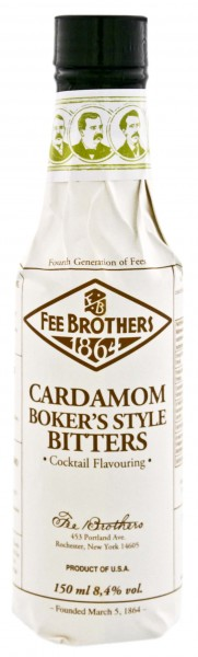 Fee Brothers Cardamom Bitters - Boker's Style, 0,15 L, 8,4%
