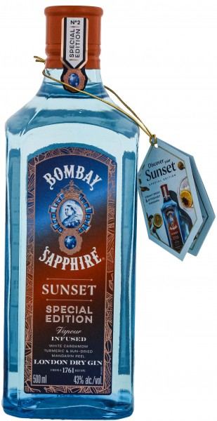 Bombay Sapphire Sunset Special Edition Dry Gin 0,5L43%